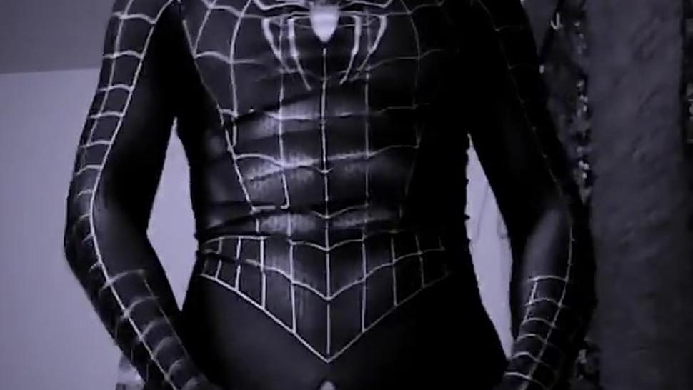 Venom Spider Zentai hantai jerking off Rush Like a Demon