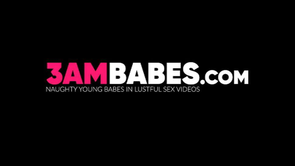 3AM BABES - Natural tits lesbo couple pussy licking and facesitting