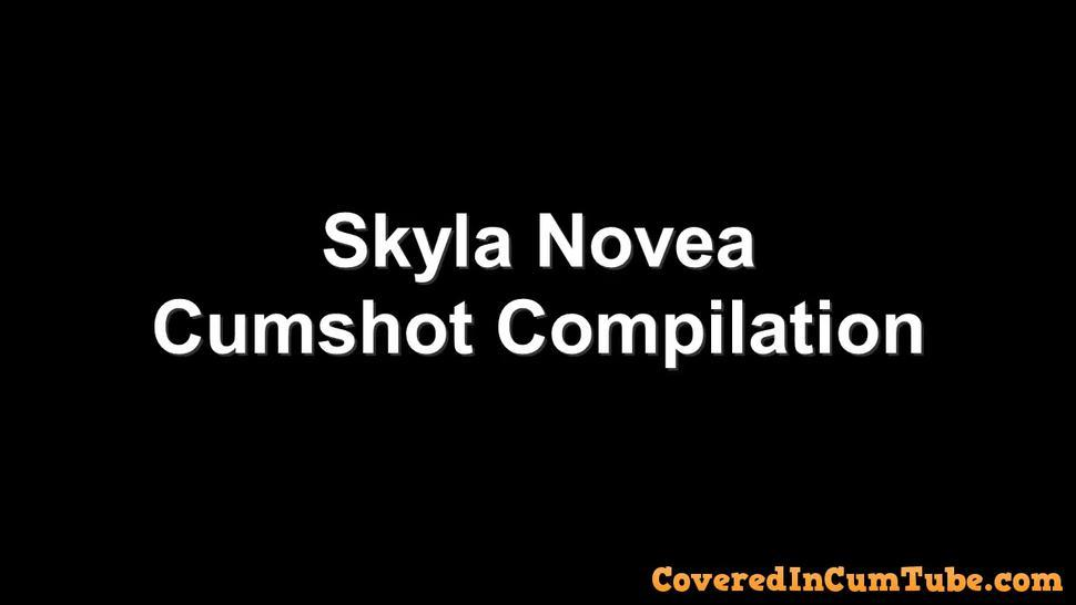 Skyla Novea Cumshot Compilation