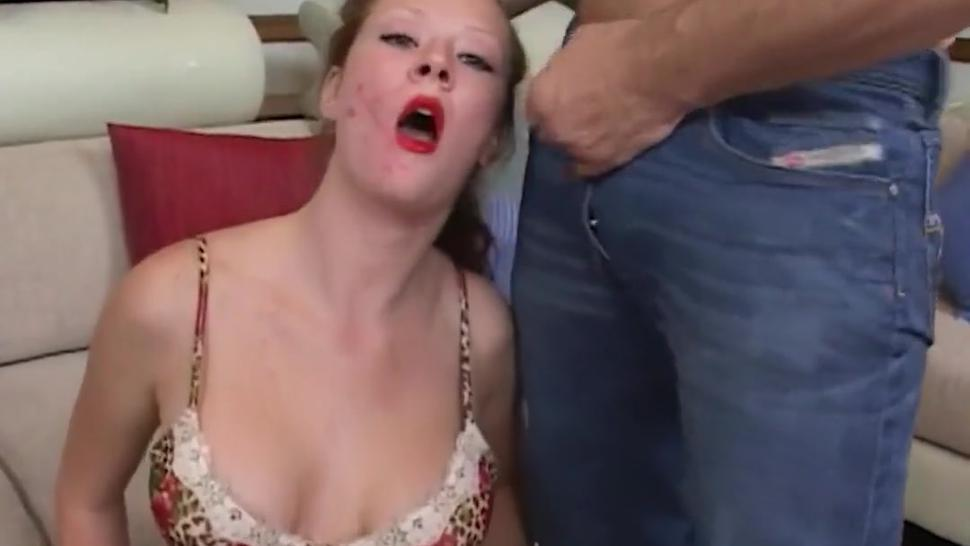 Step-Dad Face Fucks Ugly Step Daughter