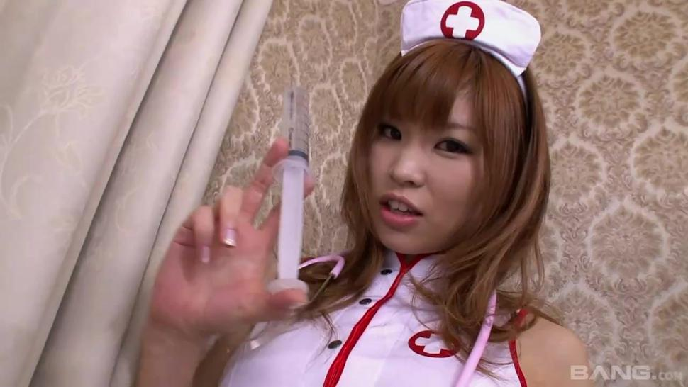 BANG.com - Little Asian Nurse Susie Gets Her Asian Hole Tag Teamed