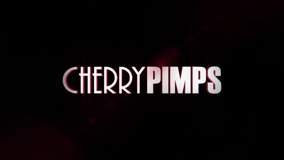 CHERRY PIMPS - Petite Redhead Teen Vanna Bardot Strips Down from Lingerie and Masturbates