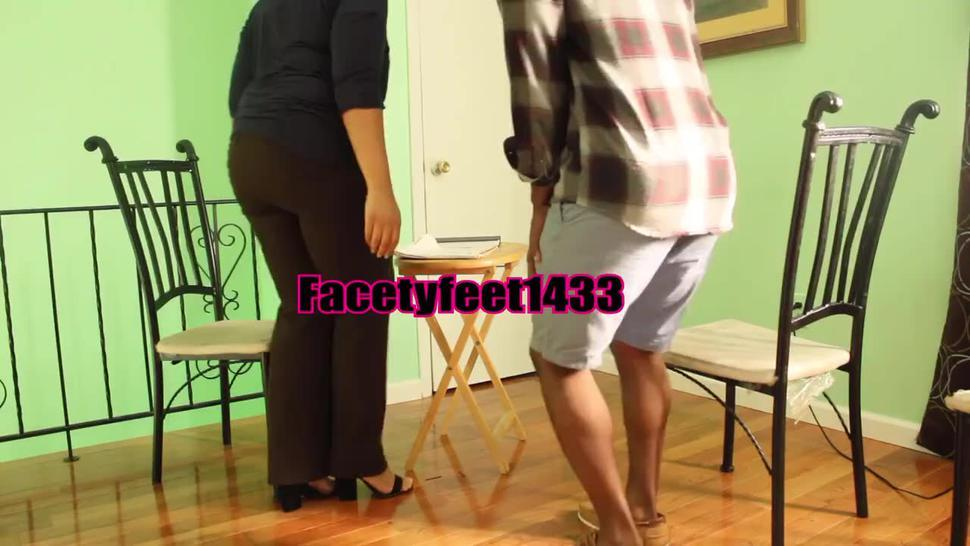 Preview- New Hire gets Foot Gagged and Foot smothered by Bossy employer