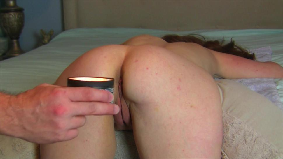 Curvy Submissive Milf Gets a Hot Oil Painal Massage + Red Candle Wax