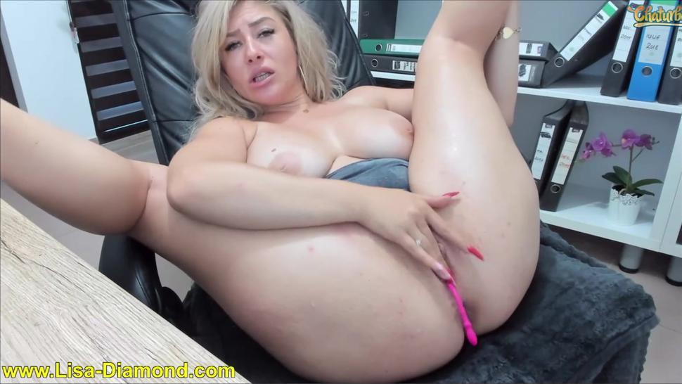chaturbate camgirl huge squirting explosion in legs behind arms - huge boobs - squirt fountain - feet