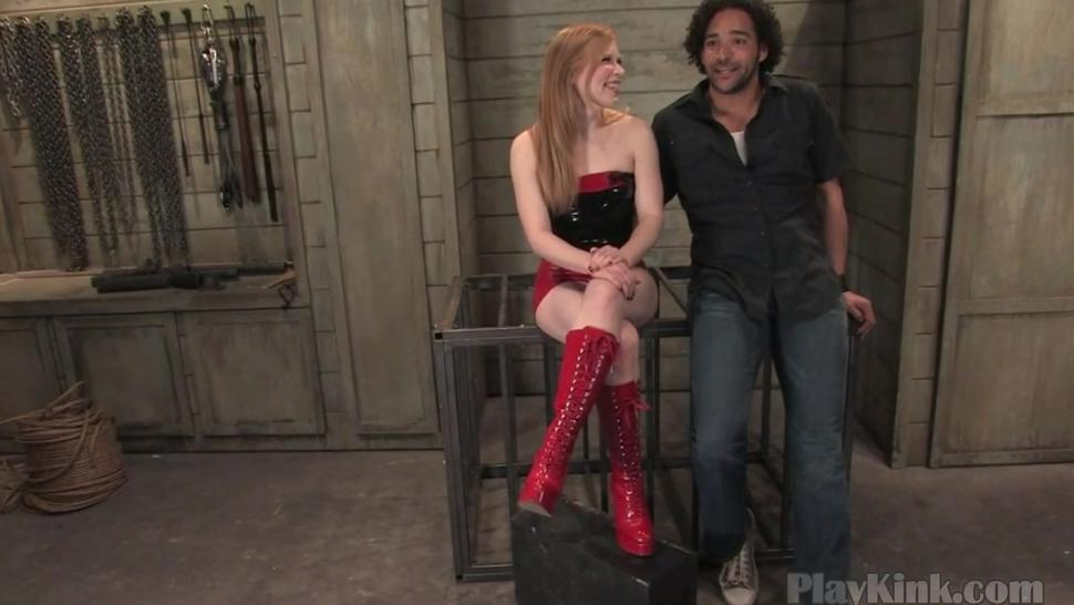 Redhead domina punishing black cock hardcore