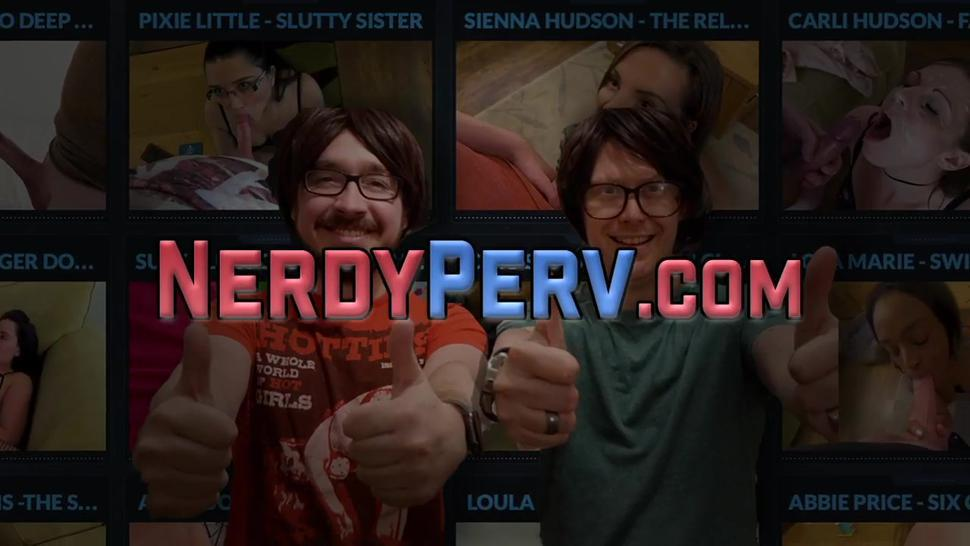 NERD PERVERT - Leeds nerds in pov sperm cock sucking brit