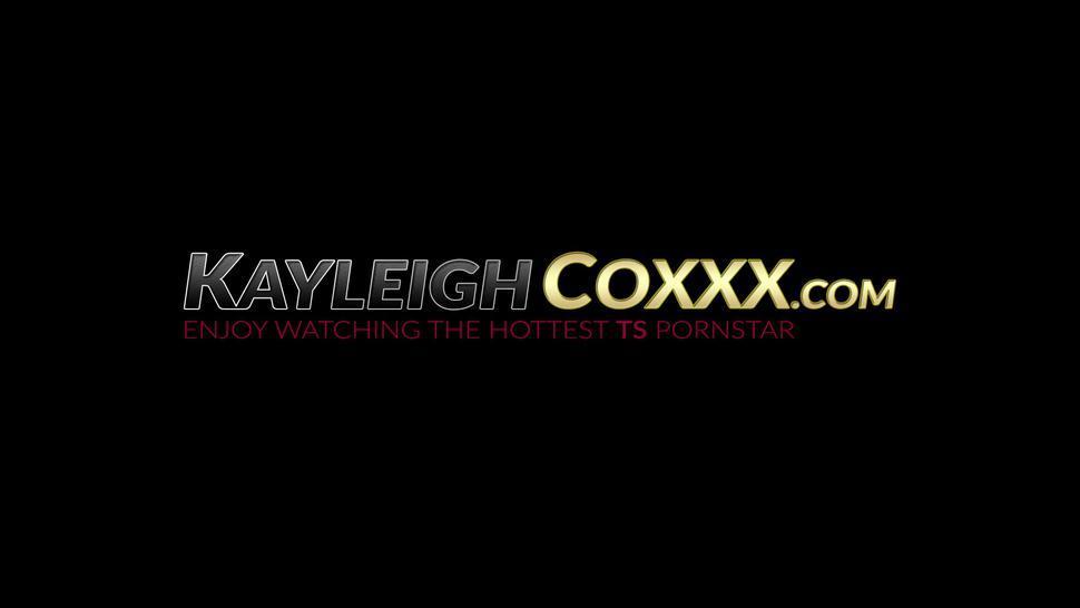 KAYLEIGH COXXX - Busty blondie ravaged by shemale pornstar Kayleigh Coxx