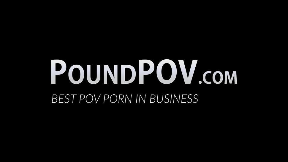 POUND POV - Nipple pierced Kira Perez rides cock reverse cowgirl style