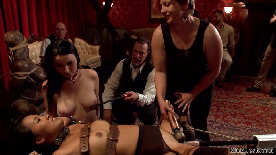 Two slaves hard banged at party