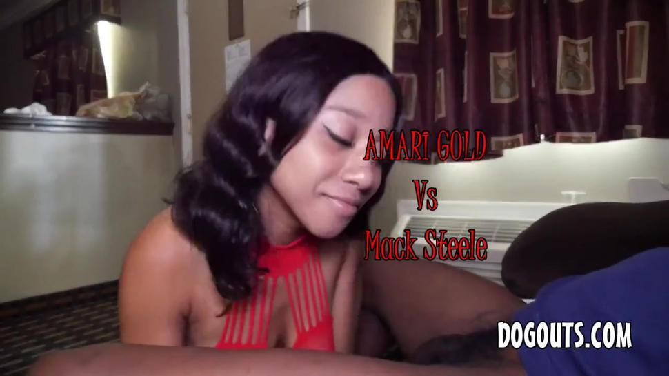 Amari Gold ebony anal