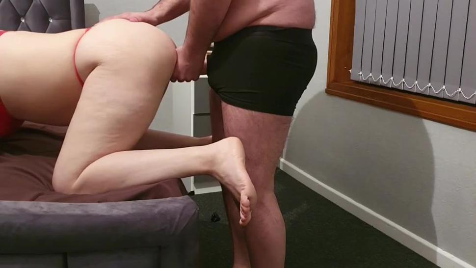 Step mom can't handle 12 inch of dick from step son for screw