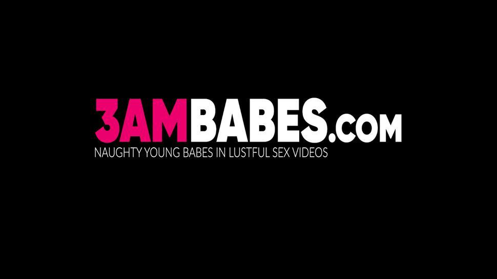 3AM BABES - Wild lesbian Jess West sensual pussy licked and toy stuffed
