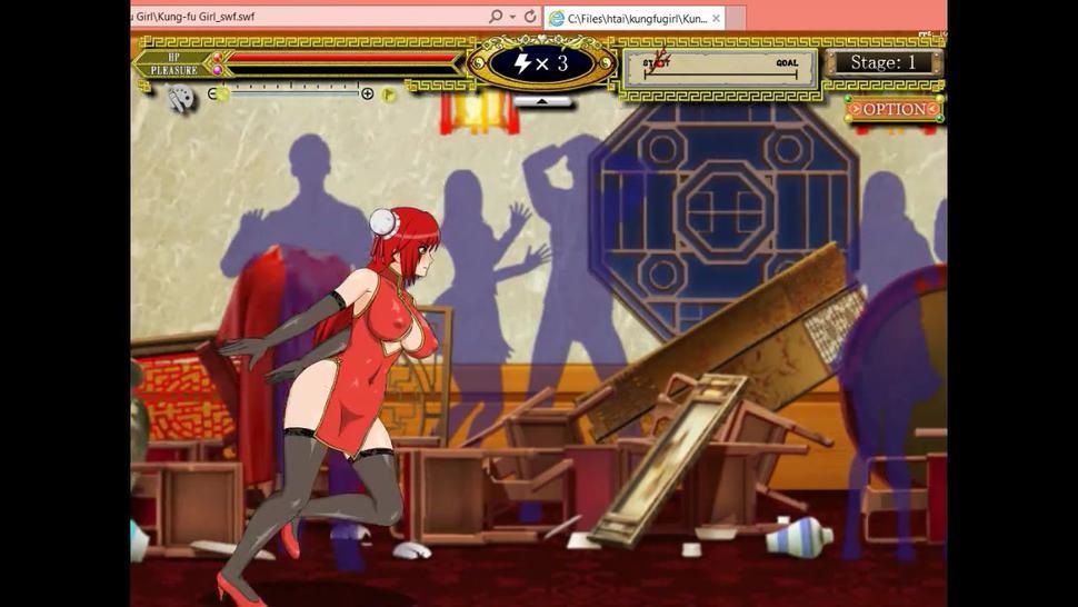 Kung Fu Girl hentai ryona game gameplay. Girl in sex with man