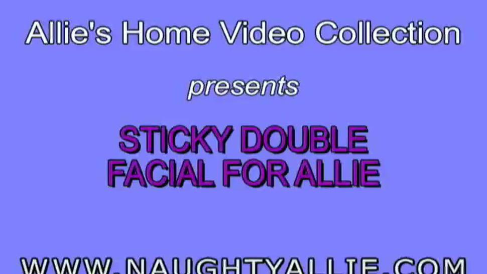 Naughty Allie - Sticky Double Facial For Allie