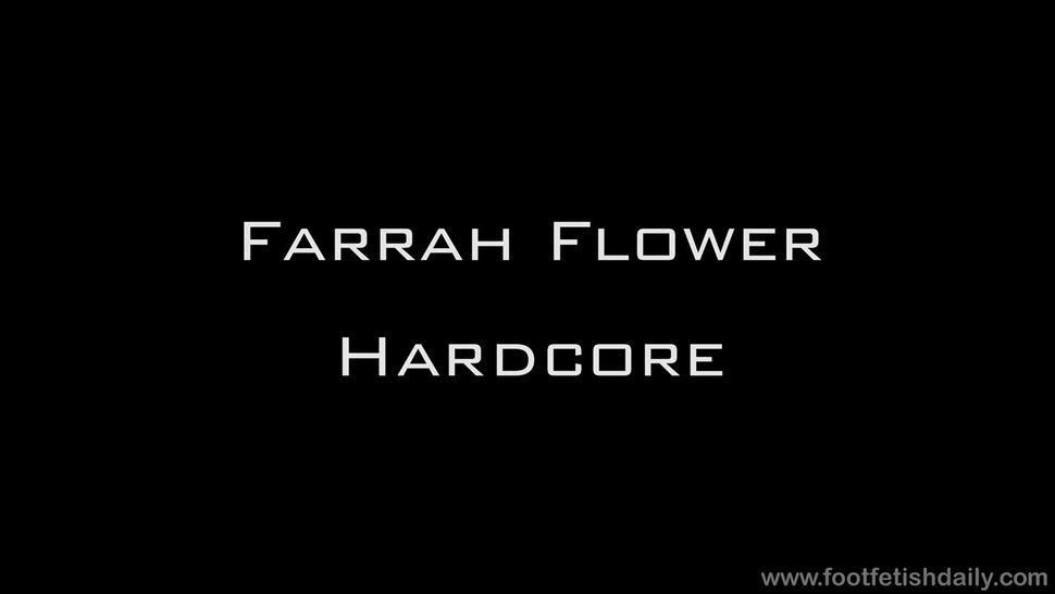 Cum On Her Playful Feet - Farrah Flower