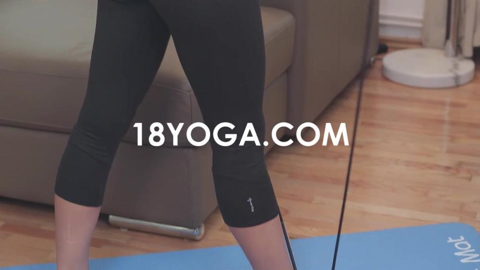 This Brunette Like Yoga And Screw