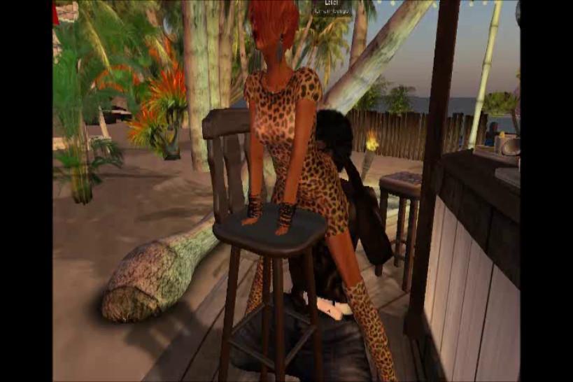Lamar qui se tape Venicie la patronne de la Villa comme une chienne