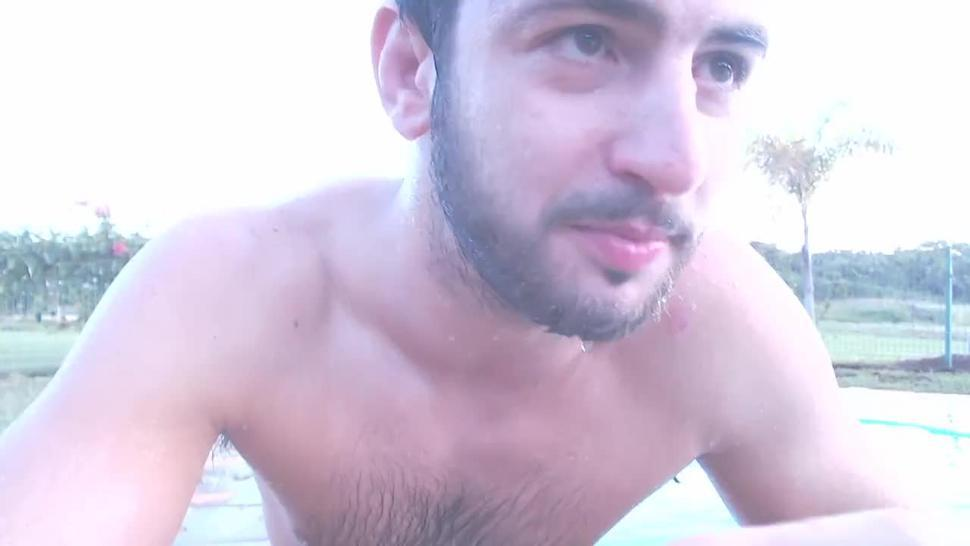 wet white boxers heart-throbbing guy gives gay men masturbation instructions and encouragement joi