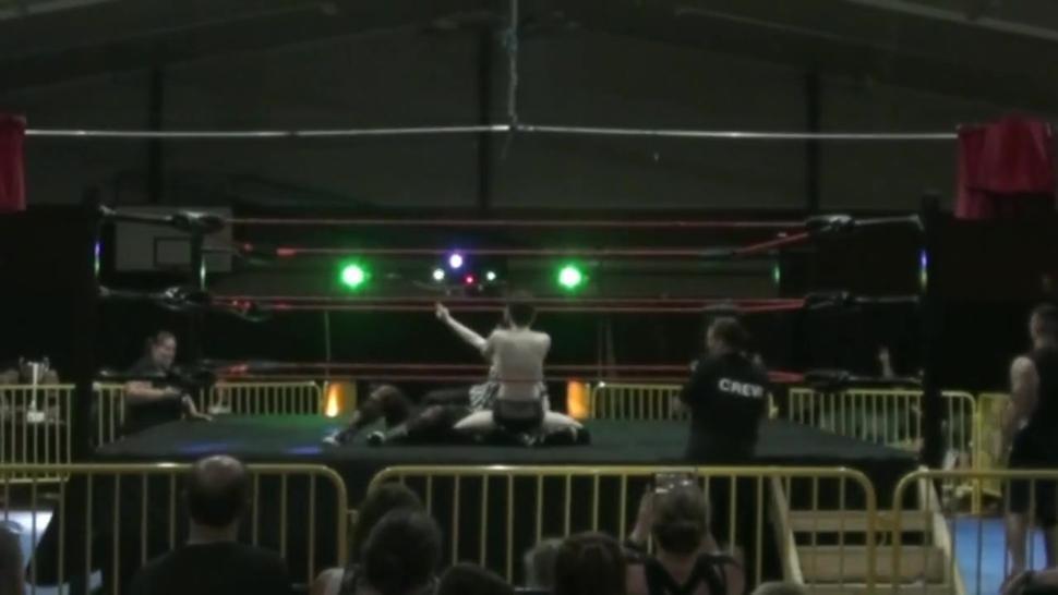 Men dominating women in the wrestling ring 27
