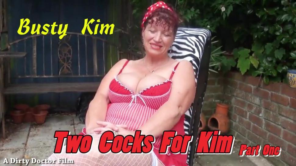 BUSTY KIM  LOVES  TWO COCKS