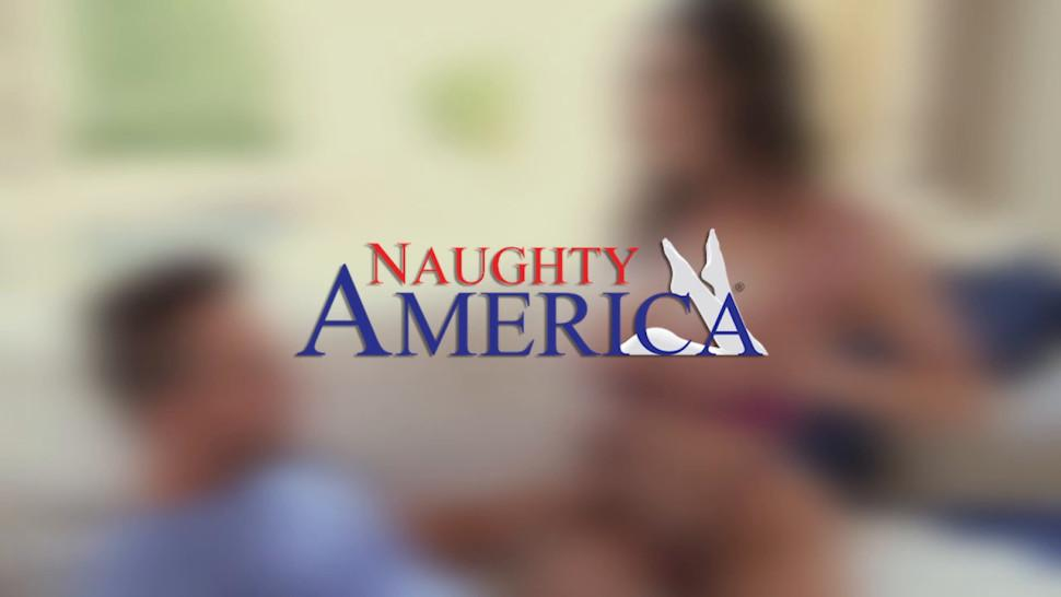 NAUGHTY AMERICA - Your wife Kassandra Kelly -Alina Lopez- fucks a stranger and you watch