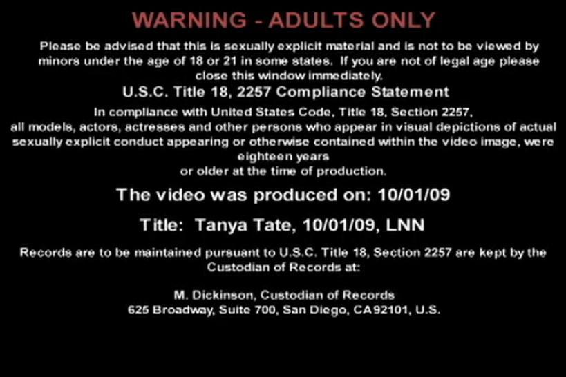 Tanya Tate - Live Naughty Nurse 10/01/2009