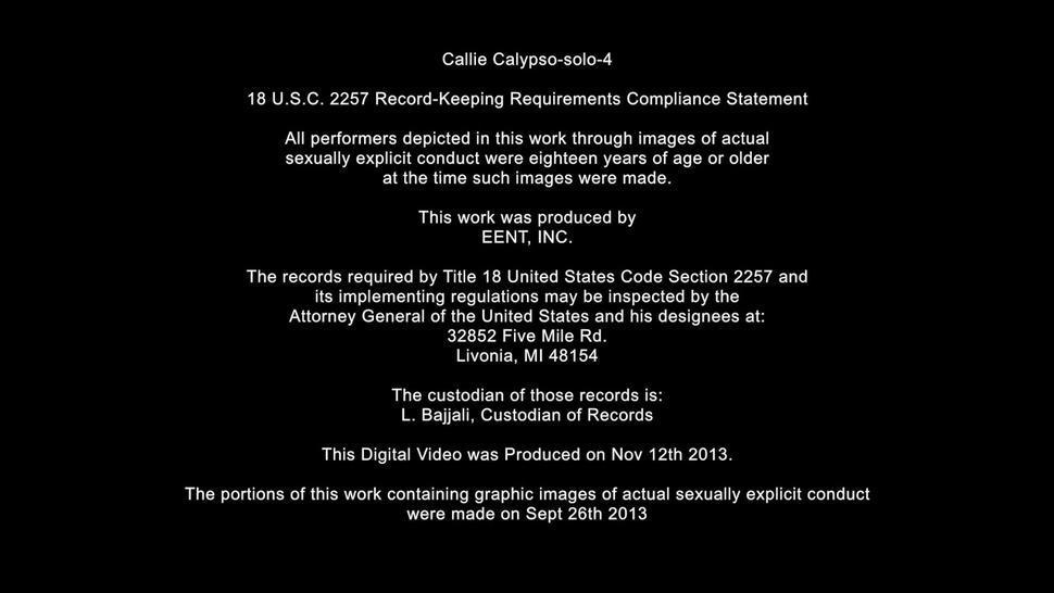 Amazing Solo On Black Leather Sofa - Callie Calypso