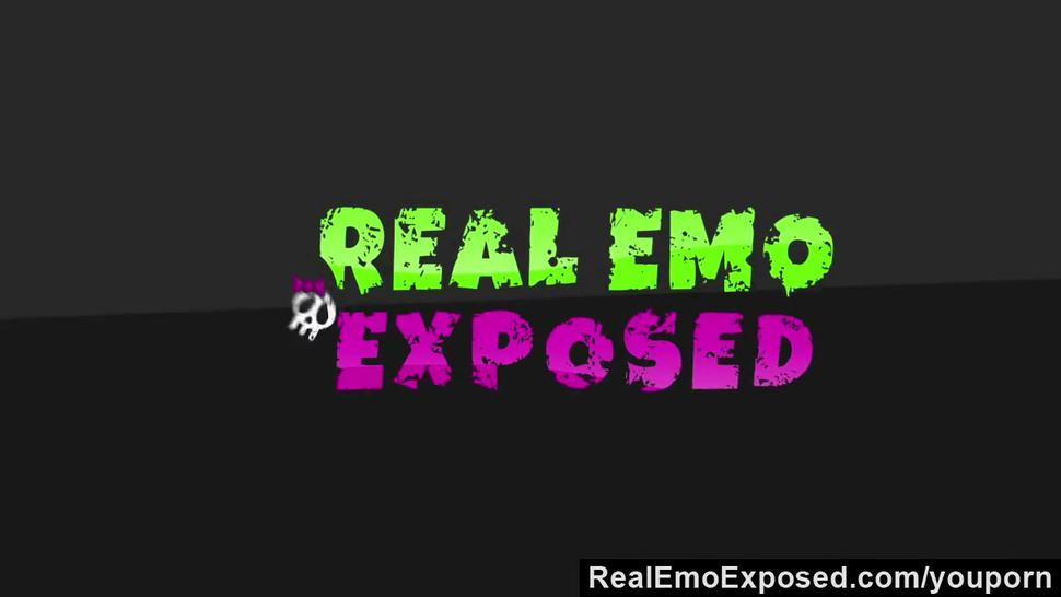 RealEmoExposed - Busty emo slut Angel warm dick sucking