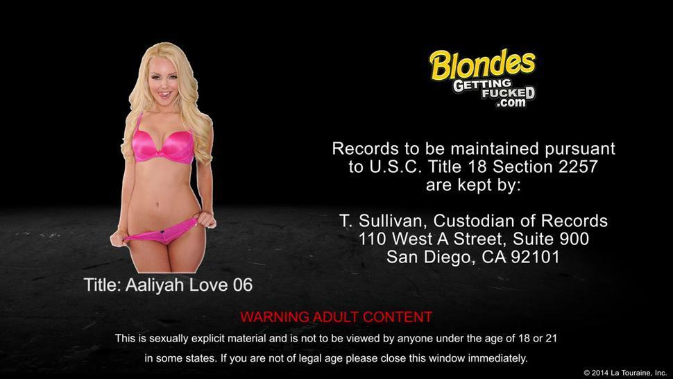 Blonde Aalyiah Love Gets Nailed - Aaliyah Love