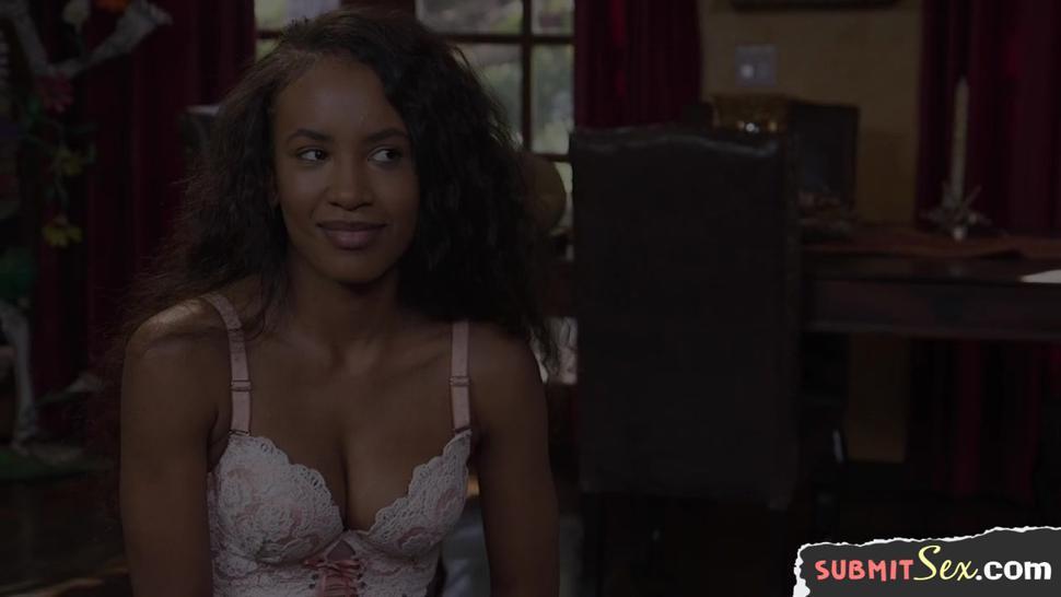 Sub Ebony Slut Screwed And Jizzsprayed