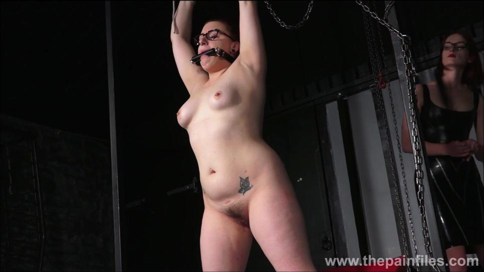 Lesbian Whipping Of Slave Isabel Dean In Painful Femdom Spanking And Hardcore Lezdom Bondage Of Amateur Bdsm Submissive In Restr
