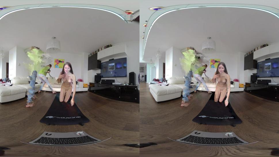 sweet young evelina vr180 naked yoga virtual reality video