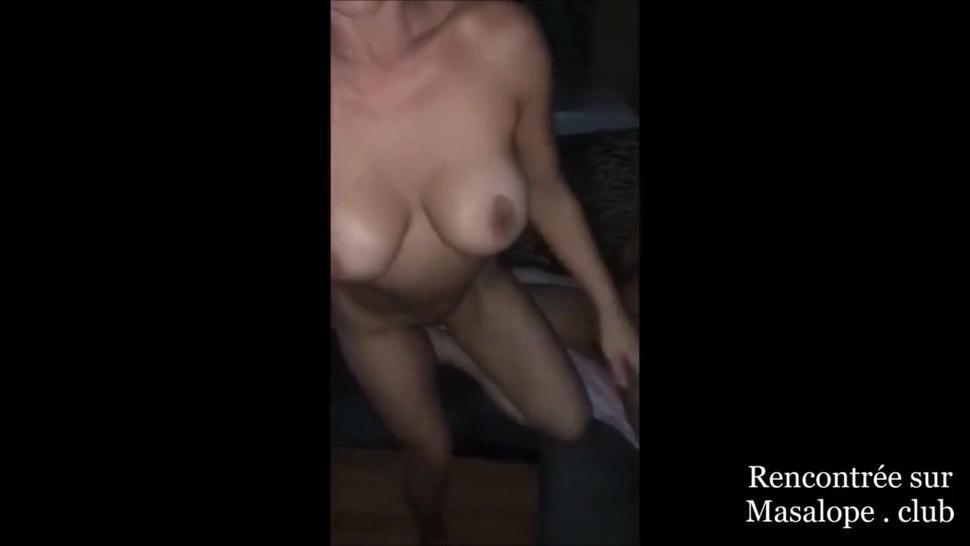 Wife sucks hubby's dick while fucking a stranger guy