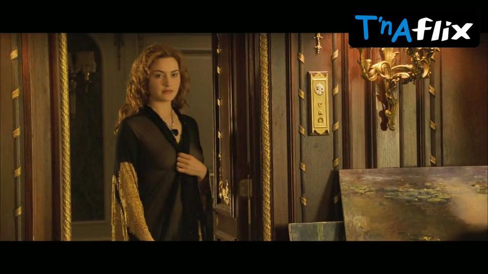 Kate Winslet Breasts,  Bush Scene  in Titanic