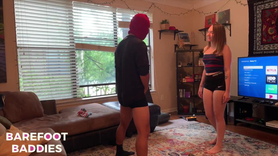 Some girl kicking nuts - ballbusting