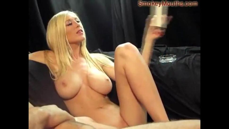 Smoking BJ & sex with a petite blonde