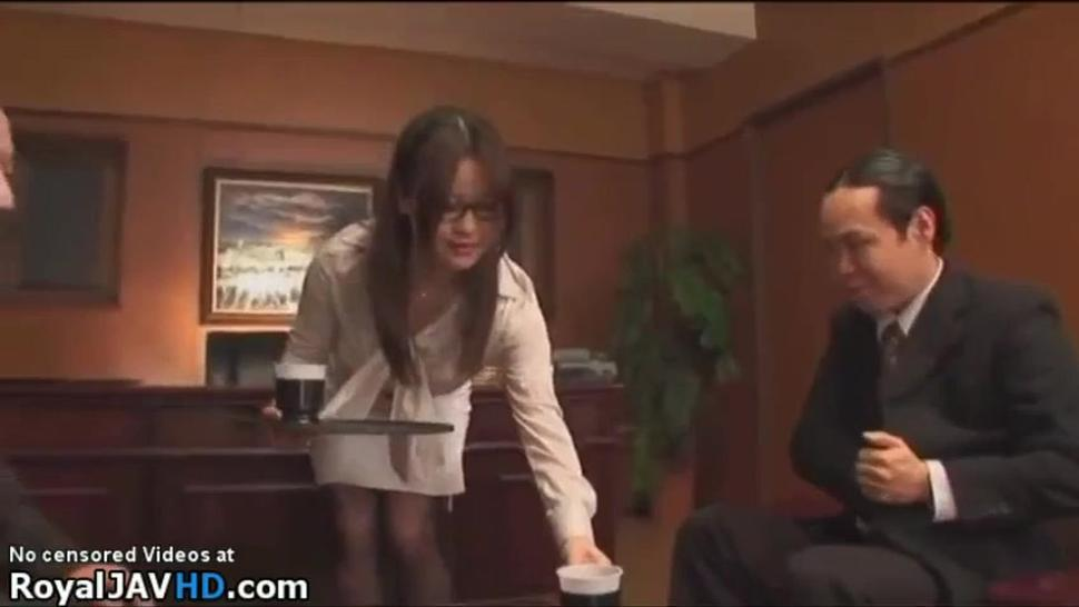 Japan office glasses big tits.part1.  What is her name ??
