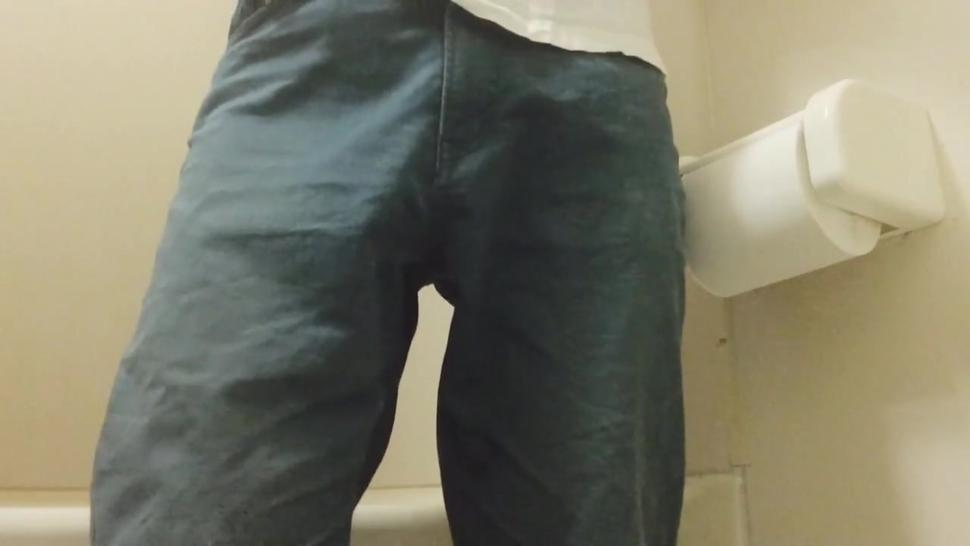 A Japanese boy can't hold it and pees in his pants