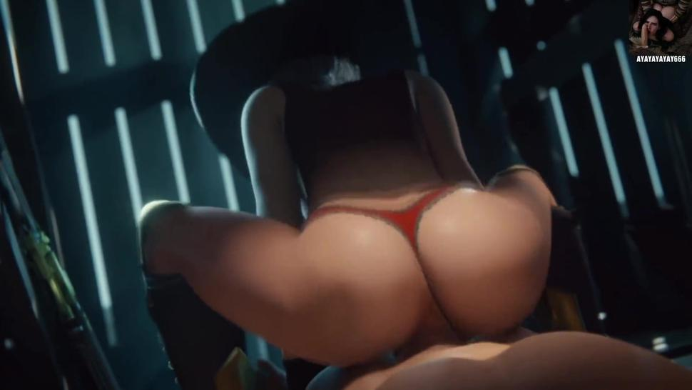 ANIME HENATI Ashe Reverse Cowgirl Overwatch (Animation WSound)