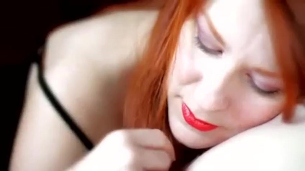 The art of blowjob. redhead giving passionate blowjob