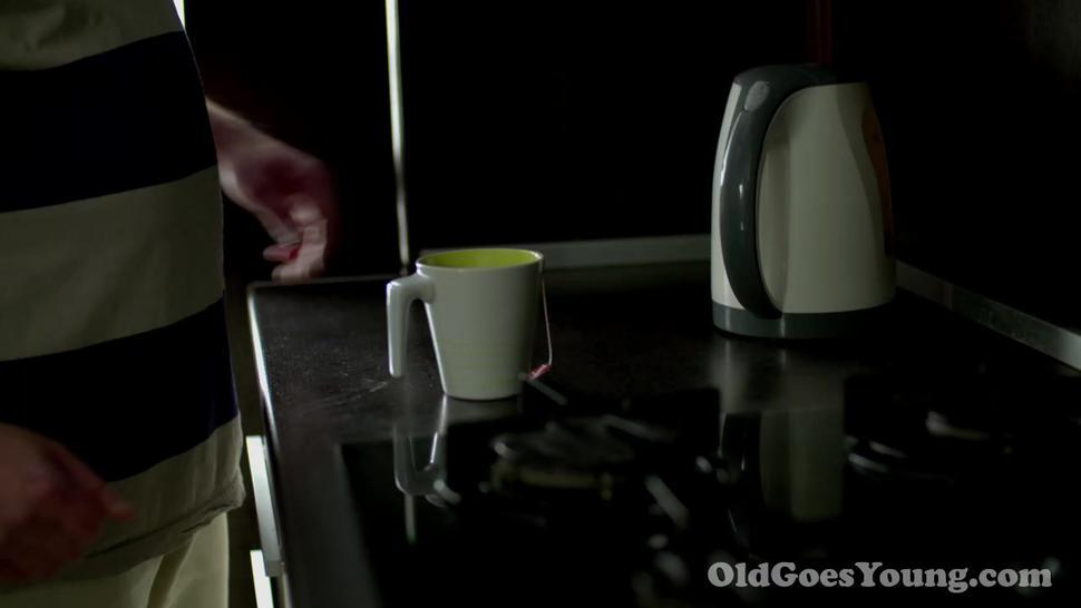Old Goes Young - Lucky old dude fucks his accidental acquaintance on a table