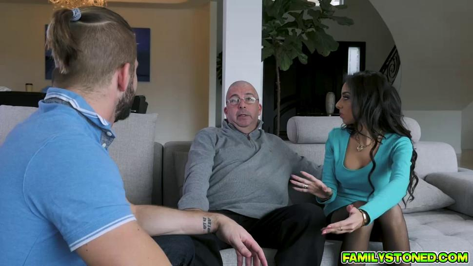 Trinity St Claires legs spread wide open and her pussy fucked