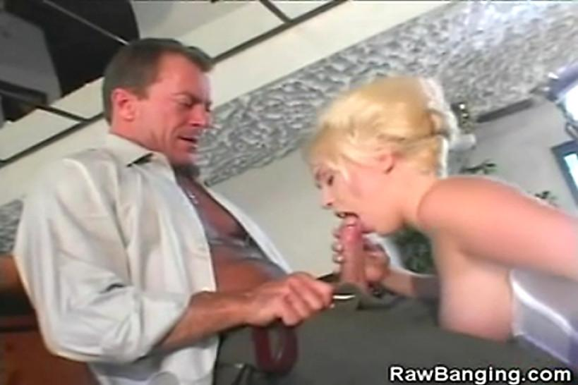 RAW BANGING - Blonde Bride Gets Anal Fucked