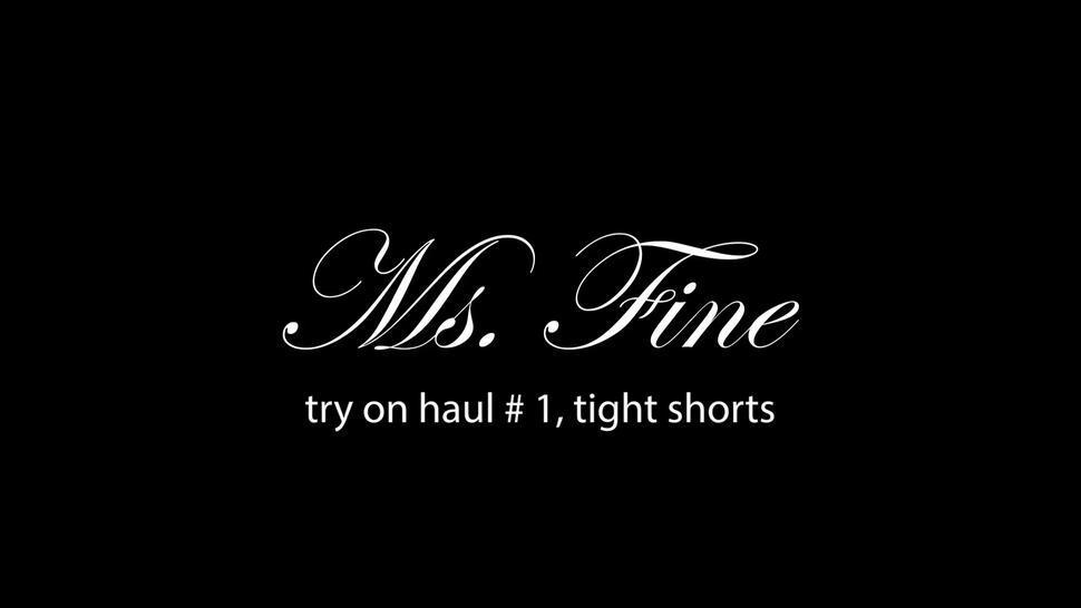 Cumshots/on cameltoe tight ms shorts