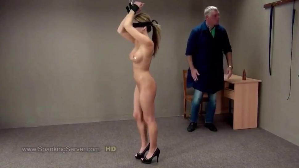 Asian Teen Nici Dee Suspended, Blindfolded, & Whipped in Nothing But Her High Heels