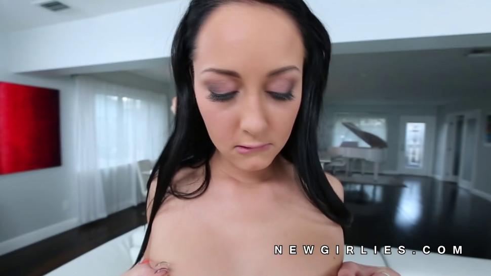 Sabrina Banks naked and sucking big cock