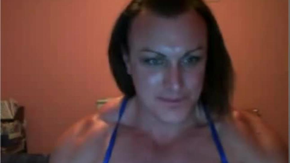 Female bodybuilder nude pec flex