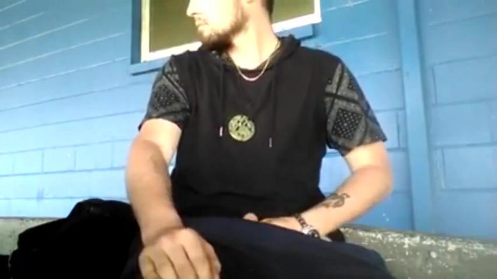 Hot Guy Jerks Off In Public