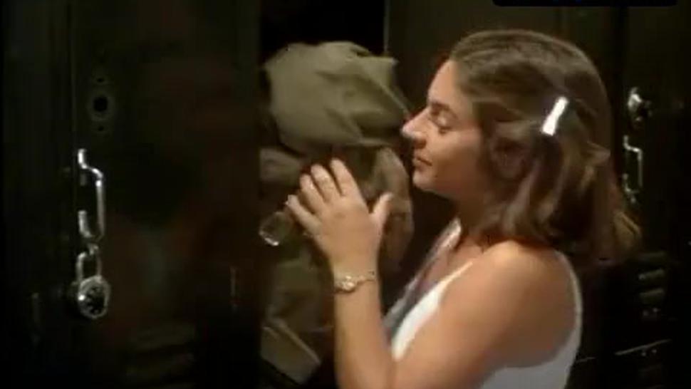Sandy Johnson Underwear Scene  in Gas Pump Girls
